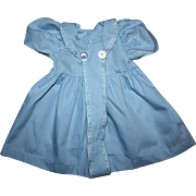 Lovely Blue Factory Doll Dress for big Babies 1950s