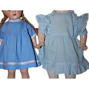 Two Doll Dresses for Mama Dolls and Composition Dolls