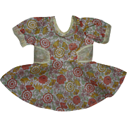 Beautiful Floral Boile and Organdy Doll Dress and Underwear 1950s