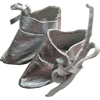 Leather Ankle Boots for Tiny Bisque-fits Patsyette too