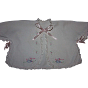 Bed Jacket and Bonnet for Big Baby Dolls 1930s