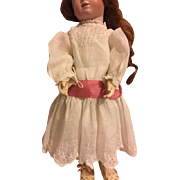 Lovely Linen Doll Dress for French or German Bisque Dolls