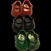 Three Pairs Vogue Ginny Shoes 1950s
