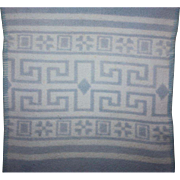 Blue and White Doll Blanket for Trunks and Dy-Dee and Friends 1950