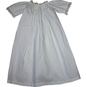 Antique White Gown for Bisque Baby Dolls 1900