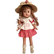 All composition Pigtailed Doll Near Mint 1930s