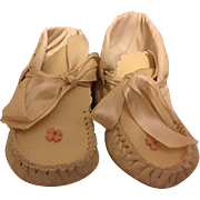 Leather Baby Moccasins for Large Baby Dolls