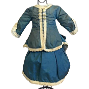 Two Piece Doll Costume for French or German Bisque