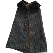 Antique Wool Doll Cape for French or German Bisque 1900