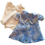 Blue Shadowprint Voile Doll Dress and Chemise 1930s