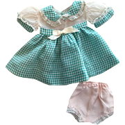 Organdy and Cotton Doll Dress and Underwear 1950s