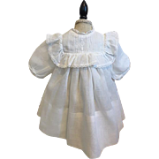 White Doll Dress for French or German Bisque