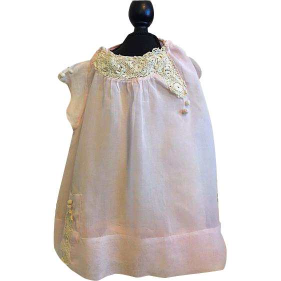 Precious Pink Batiste Baby Dress with Embroidered Lace for ...