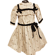 Lovely Print Dress for French or German Bisque
