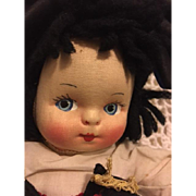 Mollye Goldman Cloth Doll with Tah Near Mint 1940s