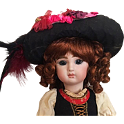 Lovely Bicorne Hat for French or German Bisque Dolls