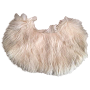 White Fur Doll Cape 1940s