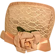 Bandeau Floral Straw Hat for Dolls 1950s