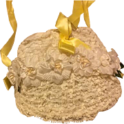 Lace and Flower Hat for Large Dolls 1950s