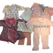 Eight Piece Layette for Dy-Dee Baby and Friends 1950s