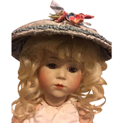 Blue Hat for Bisque Dolls