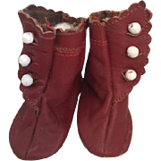 Leather Side Button Doll Boots for French or German Dolls