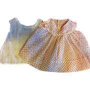 Plisse Petite Print Dress and Slip for Big Baby Dolls 1950s