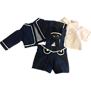 Three Piece Bavarian Doll Suit for Bisque Dolls