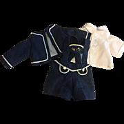 Three Piece Bavarian Doll Suit for Bisque Dolls