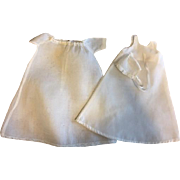 Antique Three Piece Doll Christening Gown for Small Bisque 1910