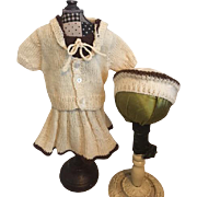 Three Piece Knit Mariner Doll Outfit for Bisque Dolls