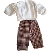Two Piece Outfit for Boy Bisque Dolls