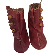 Leather Side Button Boots for French or German Bisque