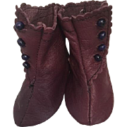 Leather Side Button Doll Boots for French or German Bisque Dolls