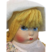 Darling Pouty Cloth Doll 1940s