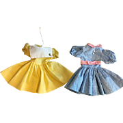 Two Dresses for Hard Plastic Dolls 1950s