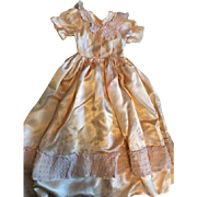 Peach Satin Gown for Bed Dolls 1920s