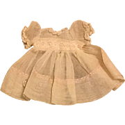 White Organdy Dress for Small Dolls and Babies 1930s