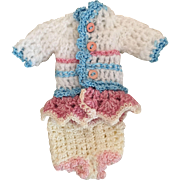 Sweet Crocheted Dress for Tiny Dolls