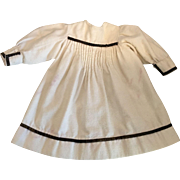 Antique Flannel Dress for Antique Dolls 1900