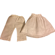 Antique Slip and Pantaloons for Bisque Dolls 1900