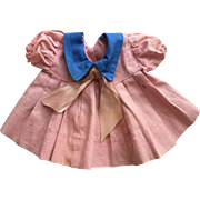 Pink Pleated Dress for Small Chubby Mama Dolls 1930