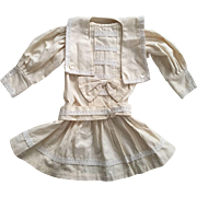 Dropped Waist Dress for Large Bisque Dolls