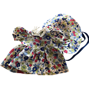 Dress and Bonnet for Composition Dolls such as Patsy 1930s