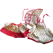 Three Piece Sunsuit Outfit for Babies such as Dy-Dee Lou 1950s
