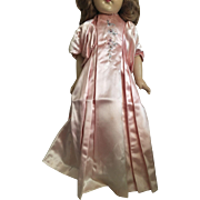 Pink Slipper Satin Gown for Composition Dolls