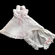 Eyelet Slip and Underwear for Hard Plastic Dolls 1950s