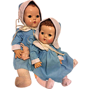 Two Pique Coat Sets for Dy-Dee Lu and Dy-Dee Baby 1950s