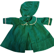 Green Corduroy Coat Set for Dy-Dee Baby and Friends 1950s