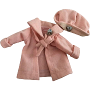Original Arranbee Nancy Peach Wool Coat and Hat 1930s